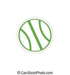 icon sticker realistic design on paper basketball