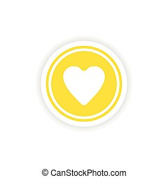 icon sticker realistic design on paper logo heart