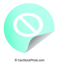 icon stop on blue background