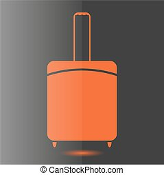 Icon suitcase, vector illustration.