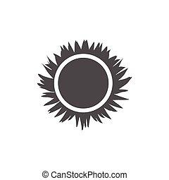 icon sun, solar beams