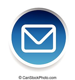 icon-, symbool, vector, boodschap, email