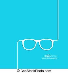 icon., szemüveg, geek