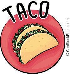 Icon Taco Illustration