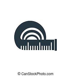 icon tape measure - tape measure icon