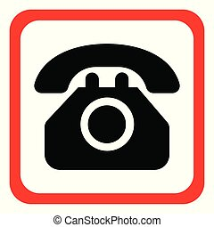 Icon telephone on a white background. Vector illustration.