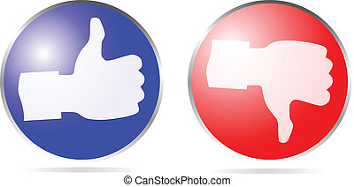 icon thumb up and thumb down