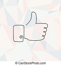 Icon thumb up outline