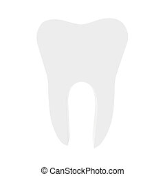 Icon tooth on a white background. 3d render