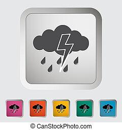 icon., tormenta