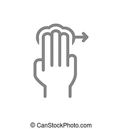 icon., toucher, 3x, ligne, trois, symbole, droit, robinet, ...