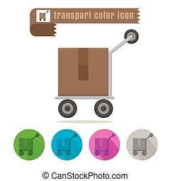 icon transport parcel colorful design vector on white...
