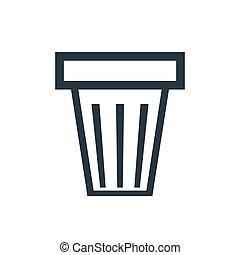 icon trash can - trash can icon