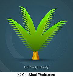 Icon Tree Design. Palm Tree Symbol