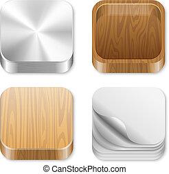 UI Square icons set.