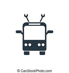 icon trolleybus - trolleybus icon