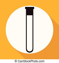 Icon Tube on white circle with a long shadow