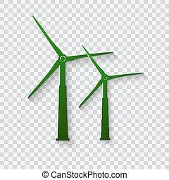 icon., turbines., dê gerador corda