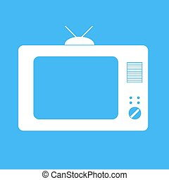 Icon TV on a blue background.