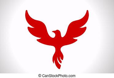 icon., uccello volante