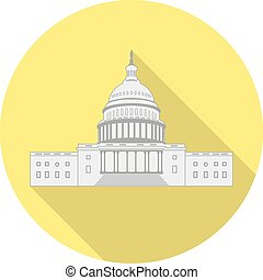 Icon US Capitol in a flat design