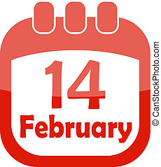 icon valentine calendar
