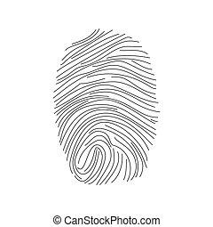icon., vecteur, empreinte doigt
