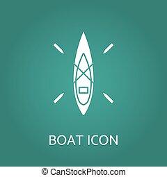 icon., vecteur, illustration., bateau