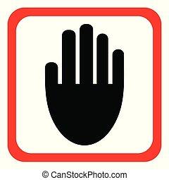 icon., vecteur, illustration, main
