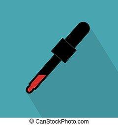 icon-, vecteur, illustration, pipette, sanguine