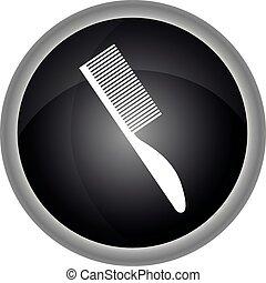 icon., vecteur, objets, coiffure