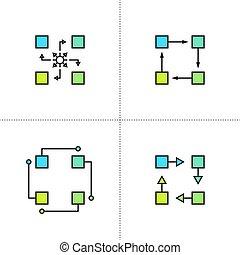 icon., vector, algorithm