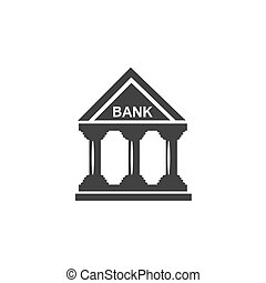 icon., vector, bank