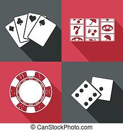 icon., vector, eps10, casino