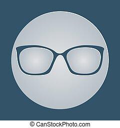 icon., vector, illustratie, bril