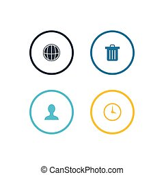 Icon vector inside line circle design