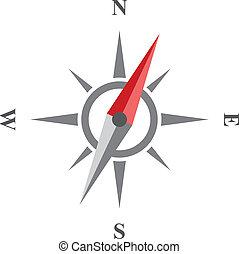 icon., vector, kompas