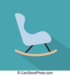 icon-, vector, mecedor, ilustración, silla