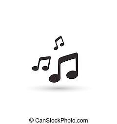 icon., vector, muziek