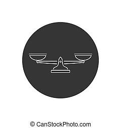 icon., vector, negro, ilustración, escala, simple, línea, ...