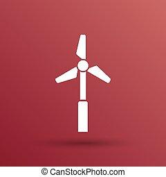 icon vector tower electric floor generator propeller