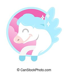 pegasus - Icon very cute smile fantasy little pony colorful...