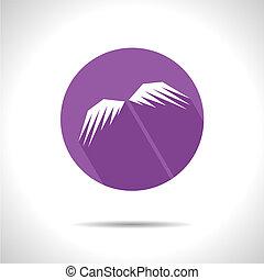 icon., vetorial, eps10, asas