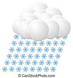 icon., vetorial, neve