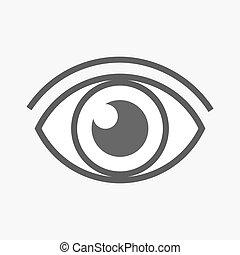 icon., vetorial, olho