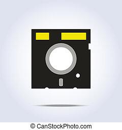 icon., vettore, dischetto, illustrazione