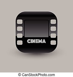 icon., vettore, eps10, illustrazione, cinema