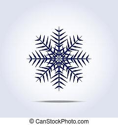icon., vettore, fiocco di neve, illustrazione