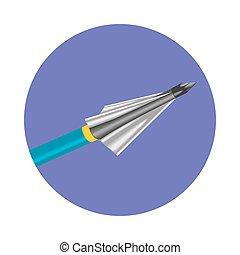 icon., vettore, freccia, arco
