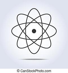 icon., vettore, molecola, illustrazione